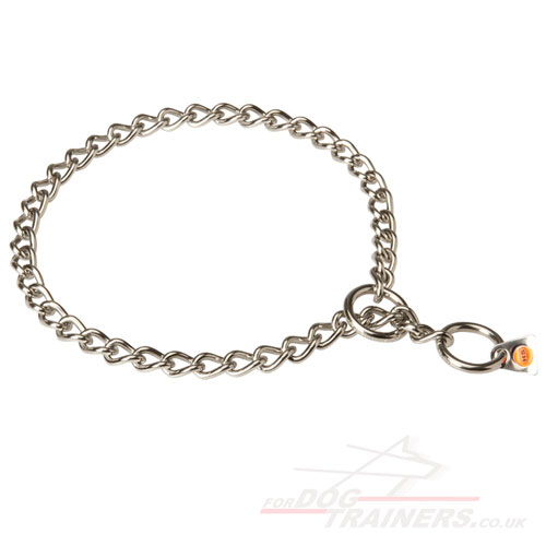 Choke Chain for Dogs Stainless Steel Herm Sprenger UK 3 mm