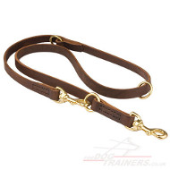 Multi-Functional Leather Dog Lead Bestseller, 2 cm / 0.8 in Wide