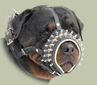 Leather Dog Muzzle for Rottweiler | Soft Padded Dog Muzzle
