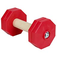 red dumbbells for dogs