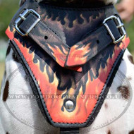 "Soft Dog Harness Felt Padded ""Flame"" for Dalmatian"