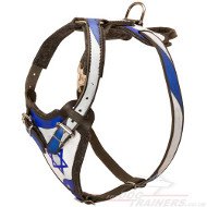 "NEW Hand Painted Dog Harness for K9 Training ""Israeli Pride"""