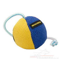 Soft Dog Toy on String | Dog Ball for Interactive Dog Games 9 cm