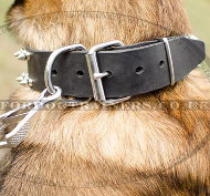 Dog Collars Leather for Malinois | Spiked Dog Collars UK
