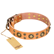 "Quality Collar with Bronze Studs ""Sophisticated Glamour"" Artisan"