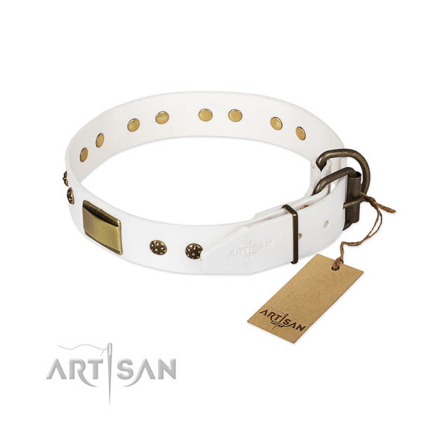 White Dog Collar for Big Dogs