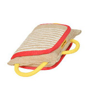 NEW! Dog Bite Pad for Dog Training with 3 Handles, Jute
