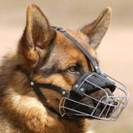 German Shepherd Wire Basket Muzzle for dog ❺❺